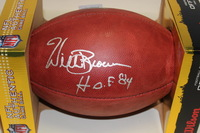 NFL - RAIDERS WILLIE BROWN SIGNED AUTHENTIC FOOTBALL