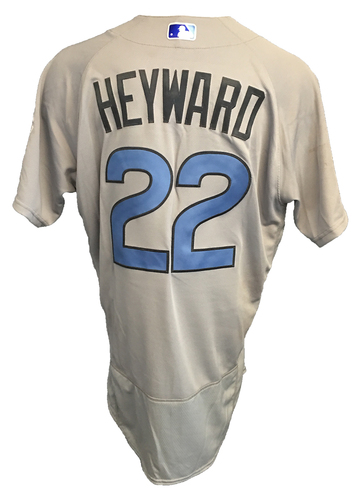 Photo of Jason Heyward Game-Used Father's Day Jersey -- Cubs vs Pirates -- 6/17/17