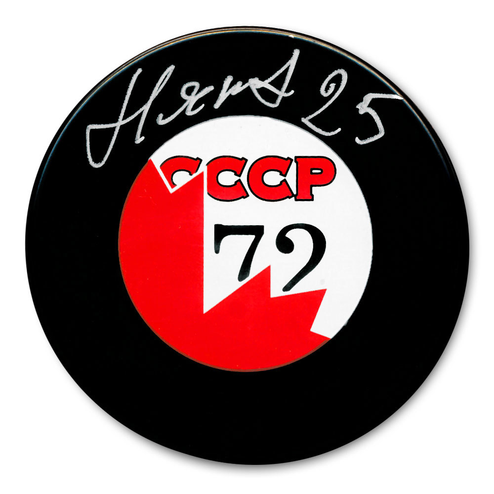 Yuri Liapkin CCCP Canada 1972 Summit Series Dueling Autographed Puck