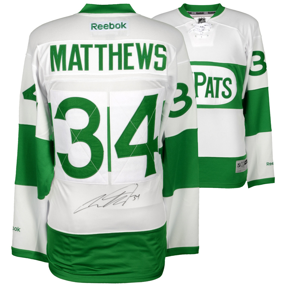 Auston Matthews Toronto Maple Leafs Autographed Green Toronto St. Pats Reebok Premier Jersey