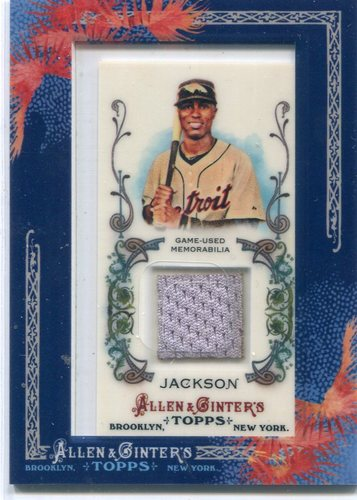 Photo of 2011 Topps Allen and Ginter Relics #AJA2 Austin Jackson -- Indians post-season