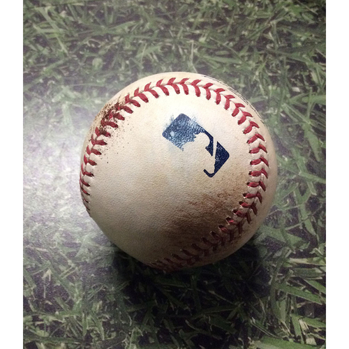 Game-Used Baseball 07/02/17 MIA@MIL - Junior Guerra to Giancarlo Stanton & Christian Yelich: Walk & Single