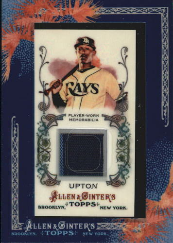 Photo of 2011 Topps Allen and Ginter Relics #BJU B.J. Upton