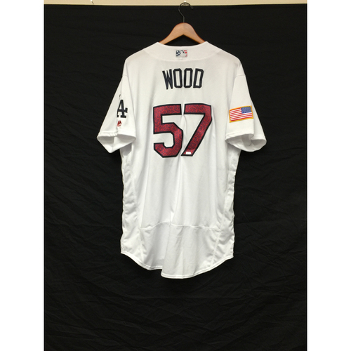 Photo of Alex Wood Team-Issued 4th of July Jersey