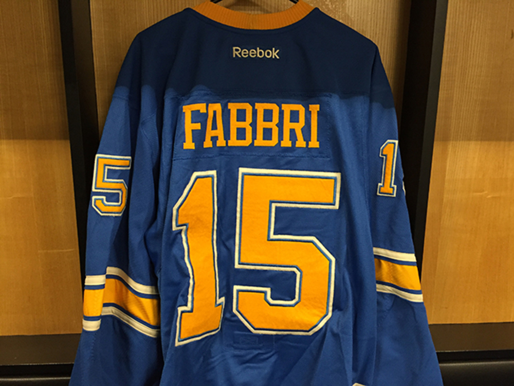 Robby Fabbri Winter Classic Game-worn Jersey