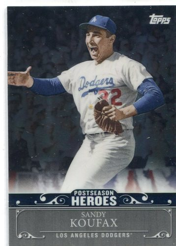 Photo of 2013 Topps Update Postseason Heroes Chrome  Sandy Koufax