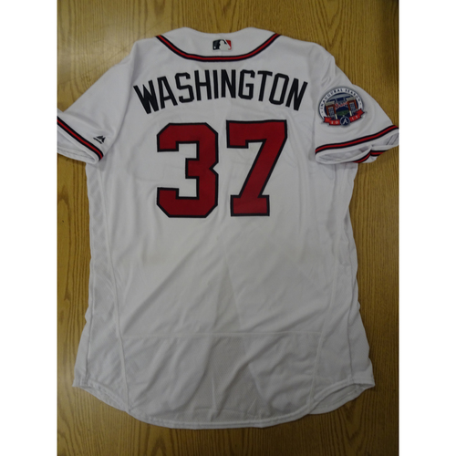 Photo of Ron Washington Game-Used Los Bravos Jersey - Worn 9/17/17 at SunTrust Park