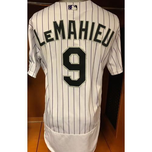 Photo of Colorado Rockies DJ LeMahieu Game Used Jersey to Aid Hurricane Harvey Relief Efforts
