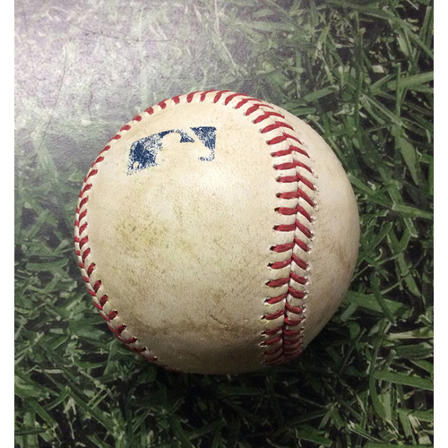Game-Used Baseball 07/03/17 BAL@MIL - Wade Miley to Manny Piña: 2-Run, Ground Rule Double