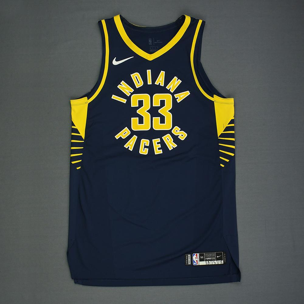 Myles Turner - Indiana Pacers - Kia NBA Tip-Off 2018 - Game-Worn Icon Edition Jersey