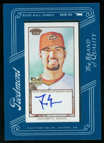 Photo of 2009 Topps 206 Mini Framed Autograph #FMA8 Daniel Schlereth