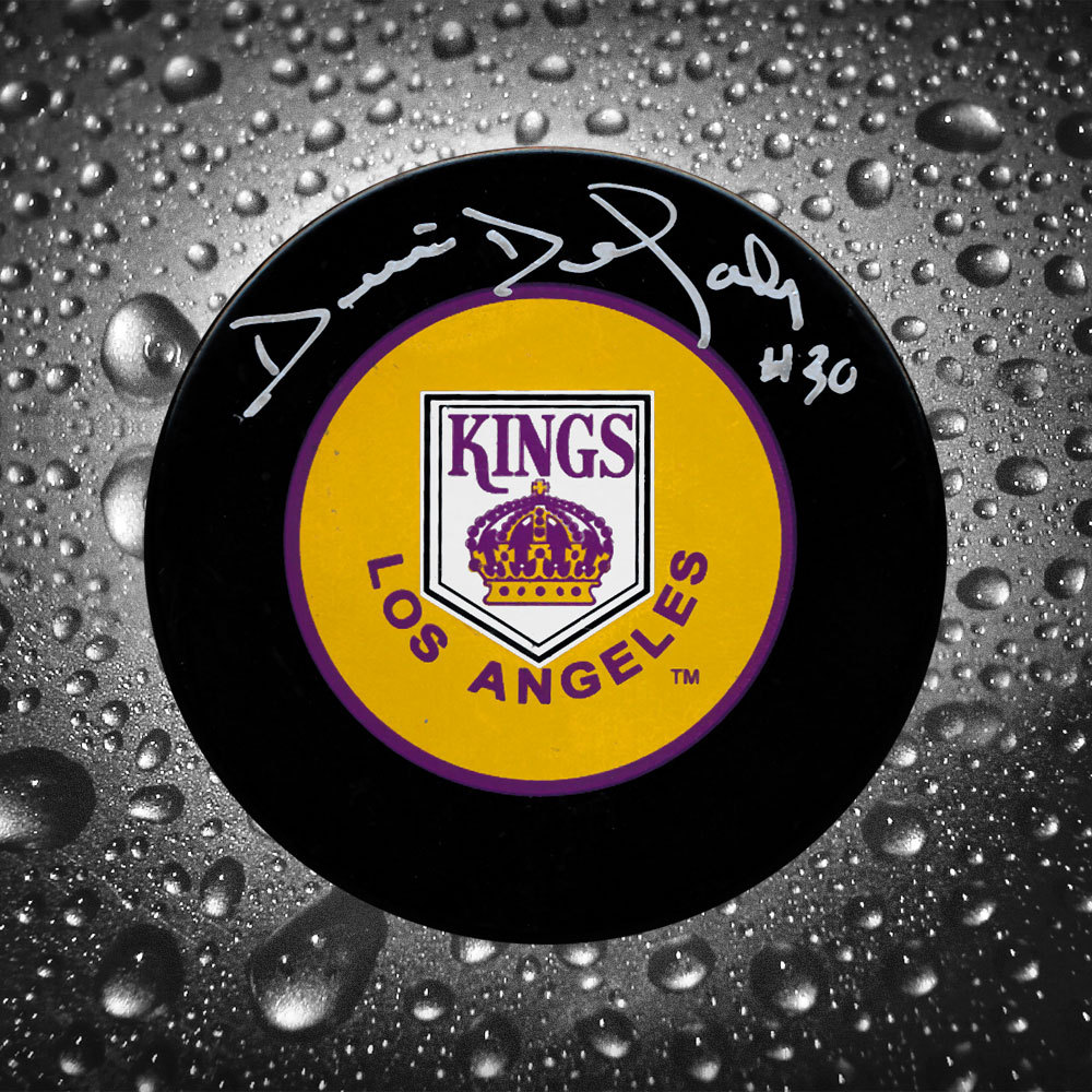 Denis Dejordy Los Angeles Kings Autographed Puck