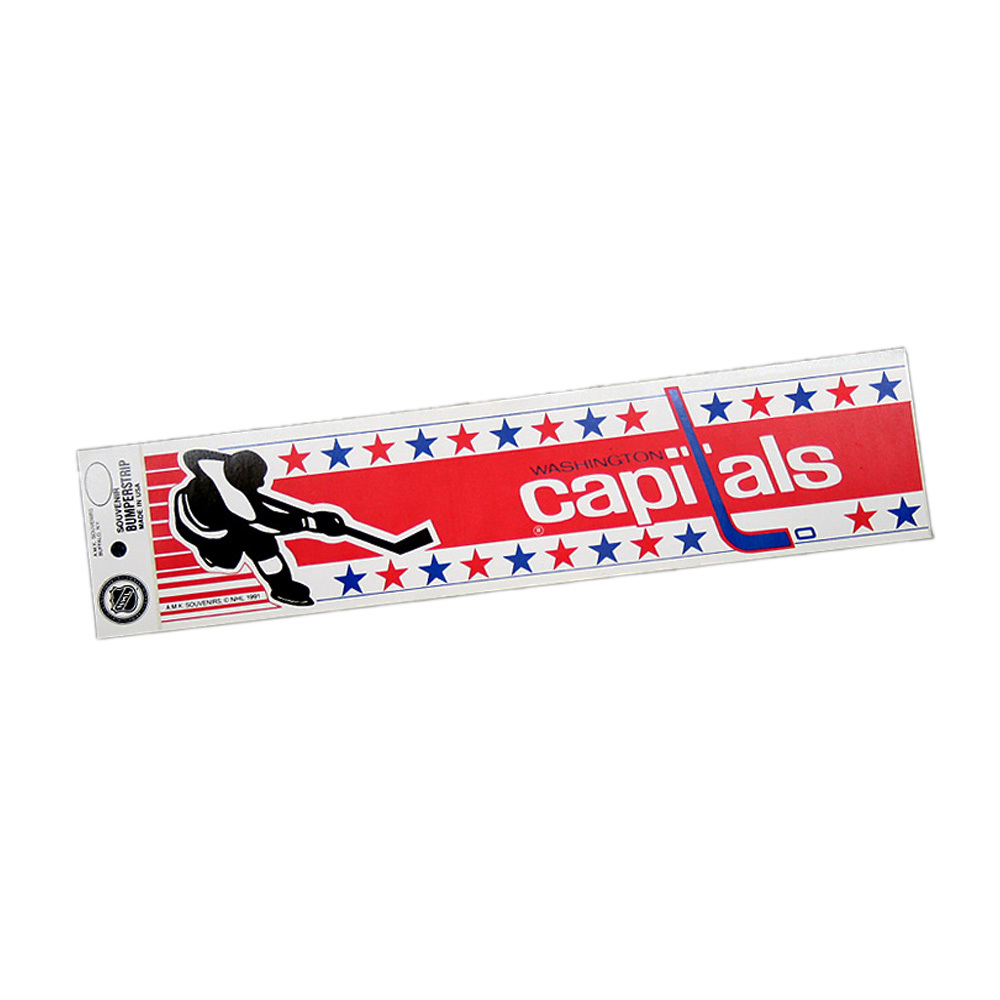 Vintage NHL WASHINGTON CAPITALS Bumper Sticker - Unused - NOS - NM - STYLE B