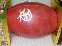 NFL - PATRIOTS KEVIN FAULK SIGNED AUTHENTIC FOOTBALL