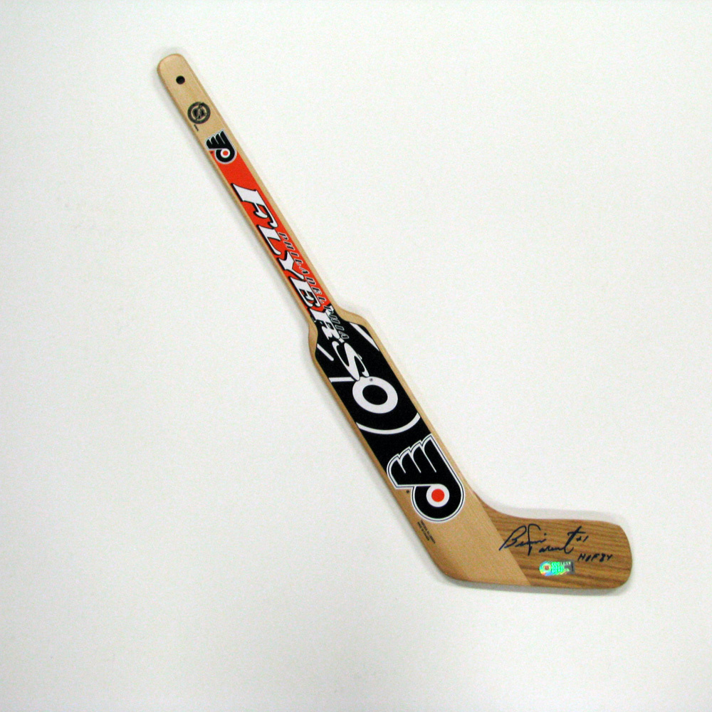 BERNIE PARENT Signed Mini Stick with HOF Inscription - Philadelphia Flyers