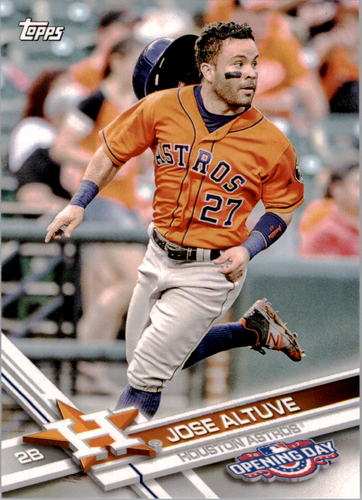 Photo of 2017 Topps Opening Day #87A Jose Altuve