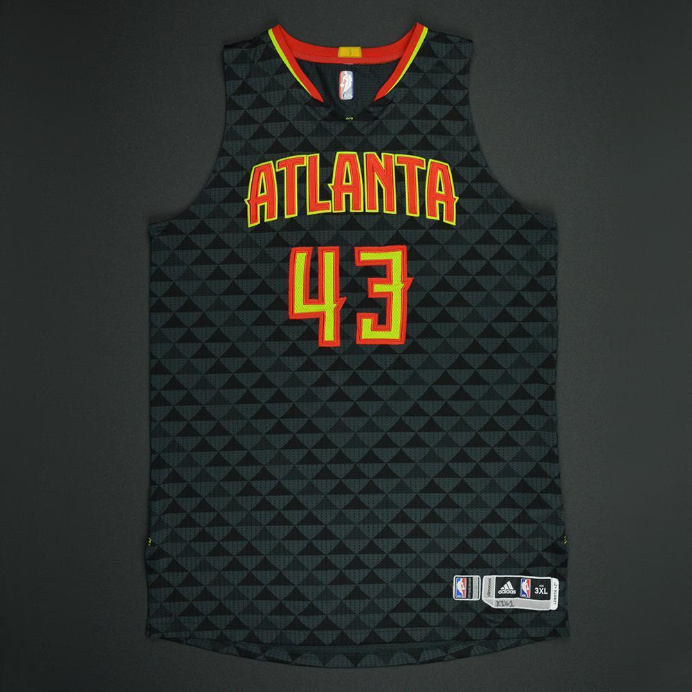 Kris Humphries - Atlanta Hawks - Black Playoffs Game-Worn Jersey - Dressed, Did Not Play - 2016-17 Season