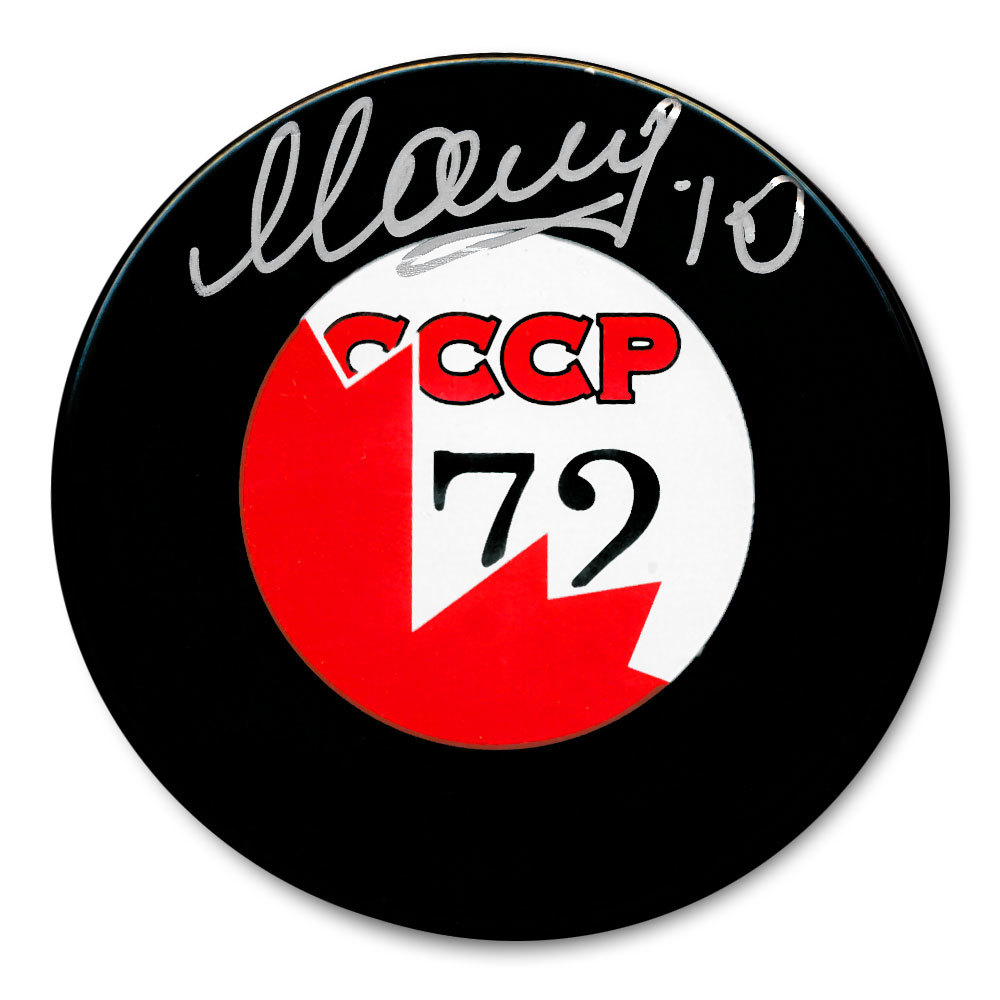 Alexander Maltsev CCCP Canada 1972 Summit Series Dueling Autographed Puck