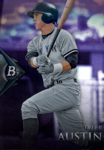 Photo of 2014 Bowman Platinum Chrome Prospects Purple Refractors  Tyler Austin