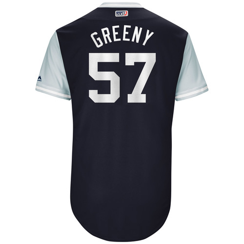"Photo of Chad ""Greeny"" Green New York Yankees Game-Used Players Weekend Jersey"