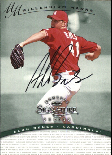 Photo of 1997 Donruss Signature Autographs Millennium #12 Alan Benes