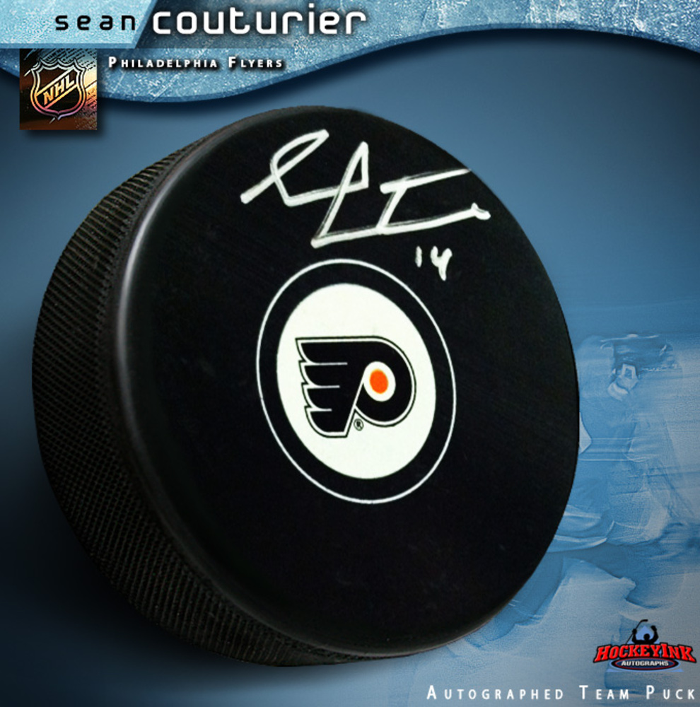 SEAN COUTURIER Signed Philadelphia Flyers Puck