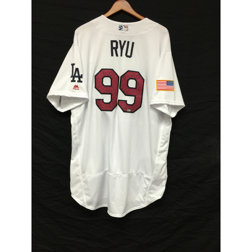 Photo of Hyun-Jin Ryu Team-Issued 4th of July Jersey