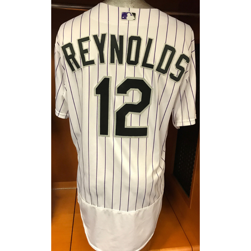 Photo of Colorado Rockies Mark Reynolds Game Used Jersey to Aid Hurricane Harvey Relief Efforts