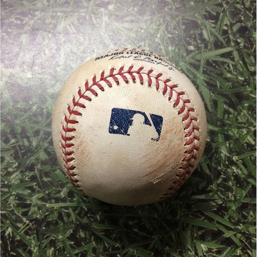Game-Used Baseball 08/10/17 MIN@MIL - Zach Davies to Miguel Sano: Single