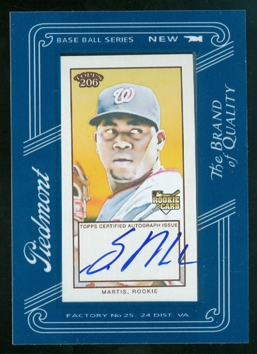 Photo of 2009 Topps 206 Mini Framed Autograph #FMA13 Shairon Martis