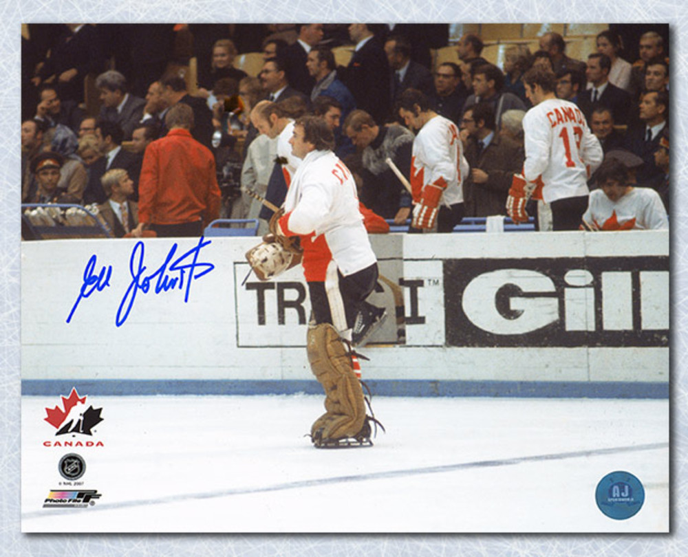 Ed Johnston 1972 Team Canada Autographed 8x10 Summit Photo