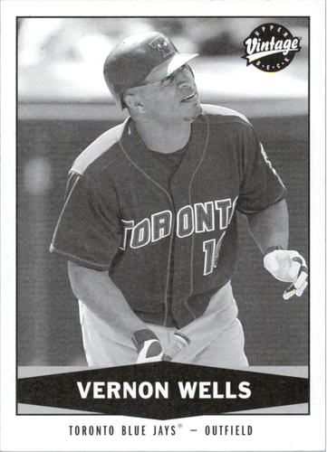 Photo of 2004 Upper Deck Vintage Black and White #347 Vernon Wells SP2