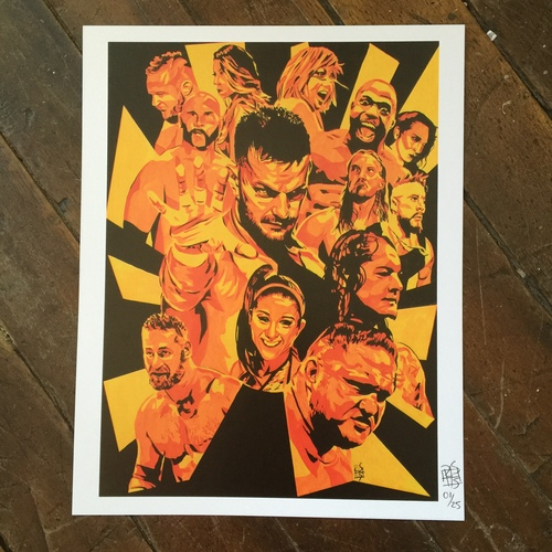 "Photo of Rob Schamberger SIGNED 11"" x 14"" NXT Superstar Collage Print"