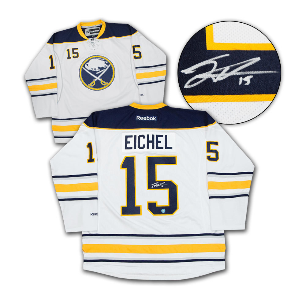 Jack Eichel Buffalo Sabres Autographed White Reebok Premier Hockey Jersey