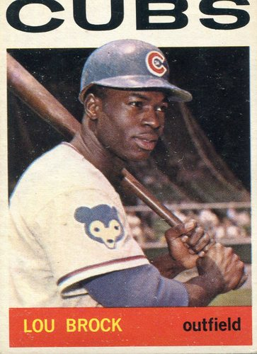 Photo of 1964 Topps #29 Lou  Brock -- Cubs Hall of Famer