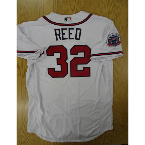 Photo of Marty Reed Game-Used Los Bravos Jersey - Worn 9/17/17 at SunTrust Park