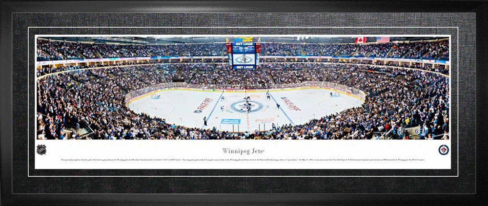 Winnipeg Jets Framed Panorama Arena