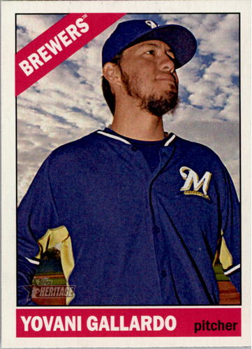 Photo of 2015 Topps Heritage #124 Yovani Gallardo