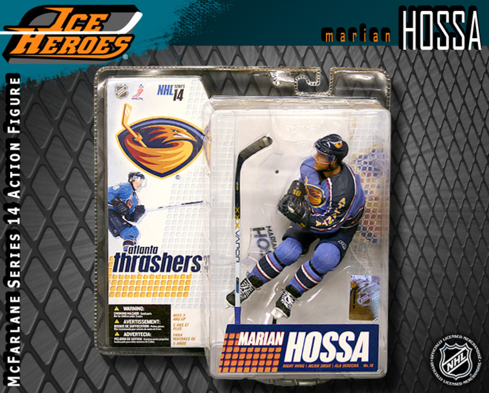 MARIAN HOSSA McFarlane Series 14 Action Figure - MIB - Atlanta Thrashers - Chicago Blackhawks