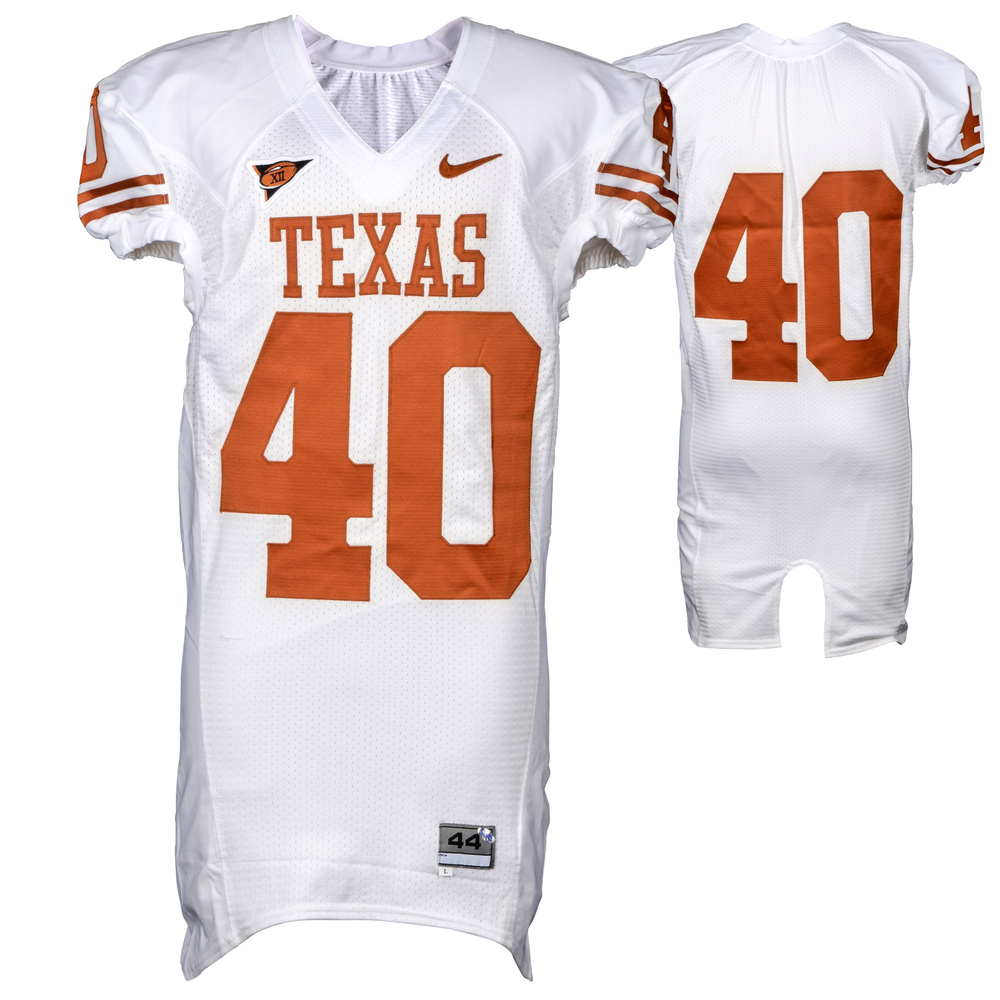 Texas Longhorns Game-Used #40 White Nike Jersey