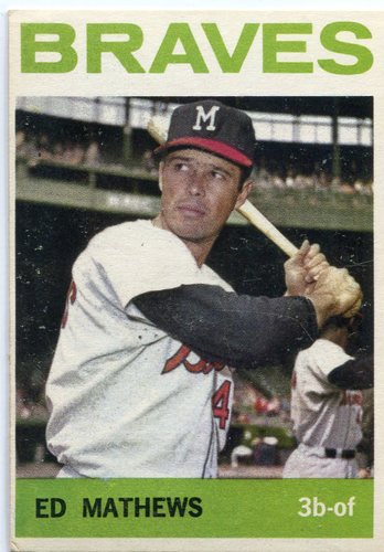 Photo of 1964 Topps #35 Eddie Mathews -- Braves Hall of Famer
