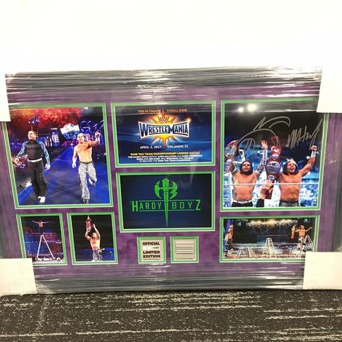 The Hardy Boyz WrestleMania 33 Signed Commemorative Plaque (#1 of 500)