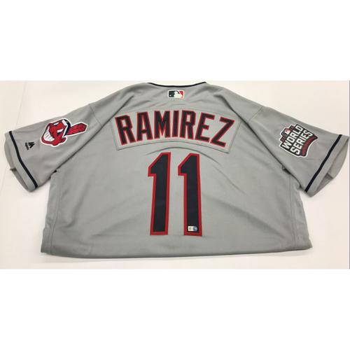 Photo of Jose Ramirez Team-Issued 2016 World Series Road Jersey