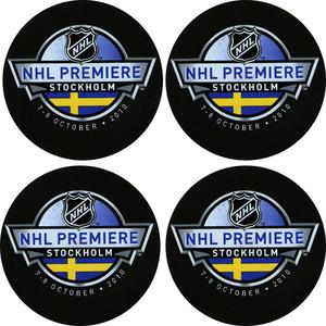 2010 NHL Premiere Stockholm Puck Lot (San Jose Sharks, Columbus Blue Jackets)