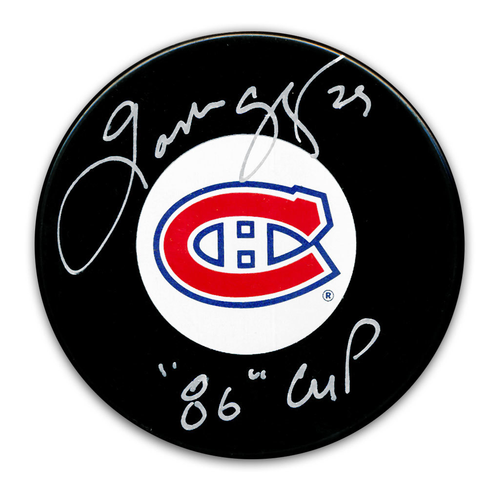 Gaston Gingras Montreal Canadiens SC Years Autographed Puck