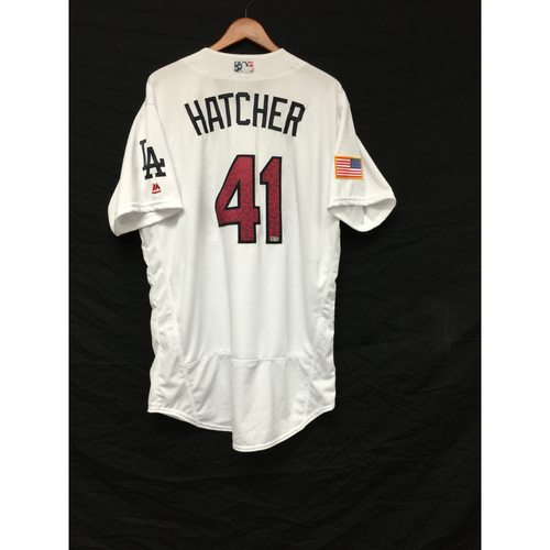 Photo of Chris Hatcher Game-Used 4th of July Jersey