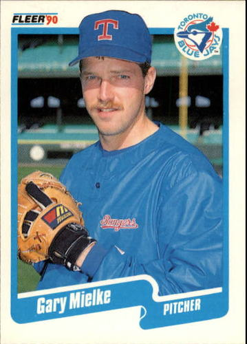 Photo of 1990 Fleer Update #125 Gary Mielke UER RC/(Shown as Blue/Jay on front)