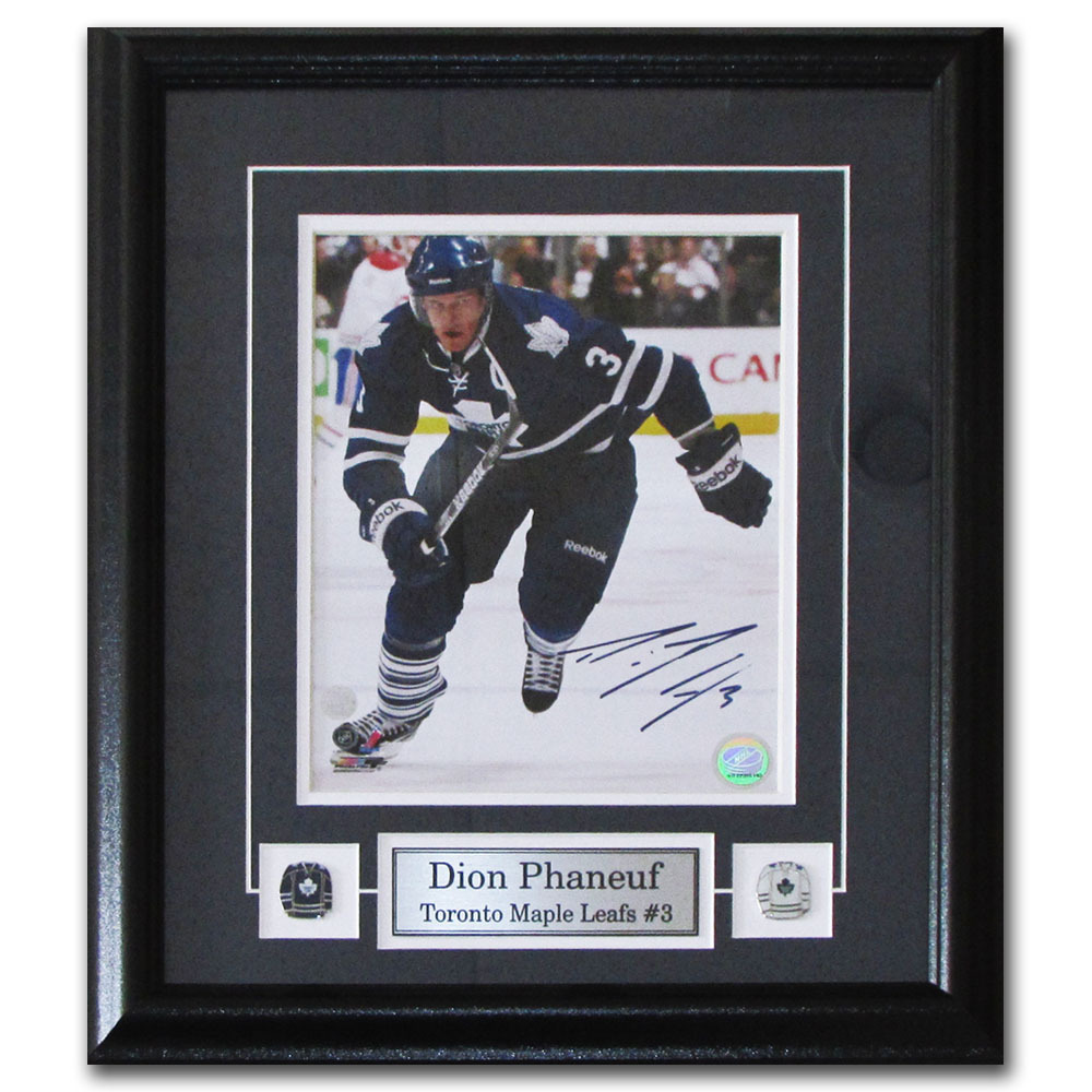 Dion Phaneuf Autographed Toronto Maple Leafs Framed 8X10 Photo