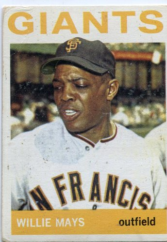 Photo of 1964 Topps #150 Willie Mays -- Giants Hall of Famer