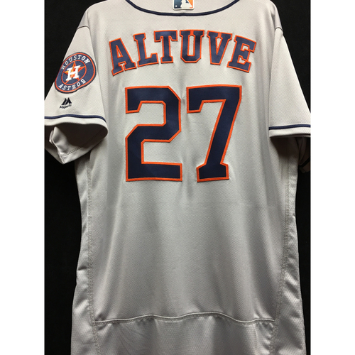 Photo of Team-Issued 2016 Jose Altuve Road Gray Jersey